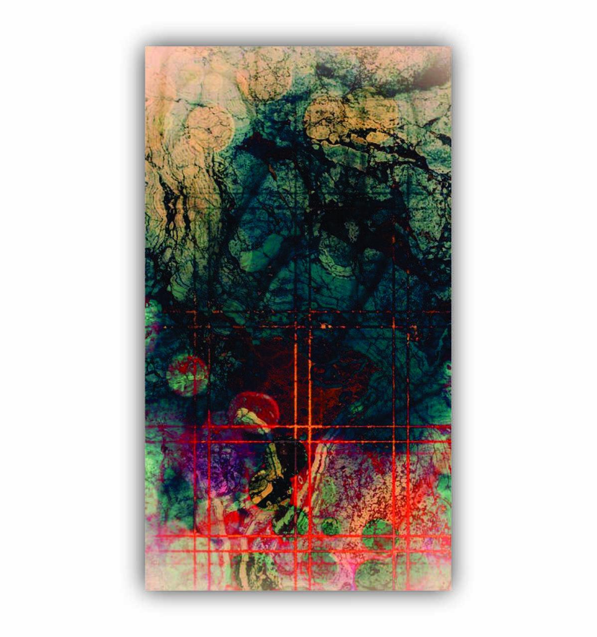 Quadro Abstrato Luxo Impacto Total Moderno Futurístico - Tela Única
