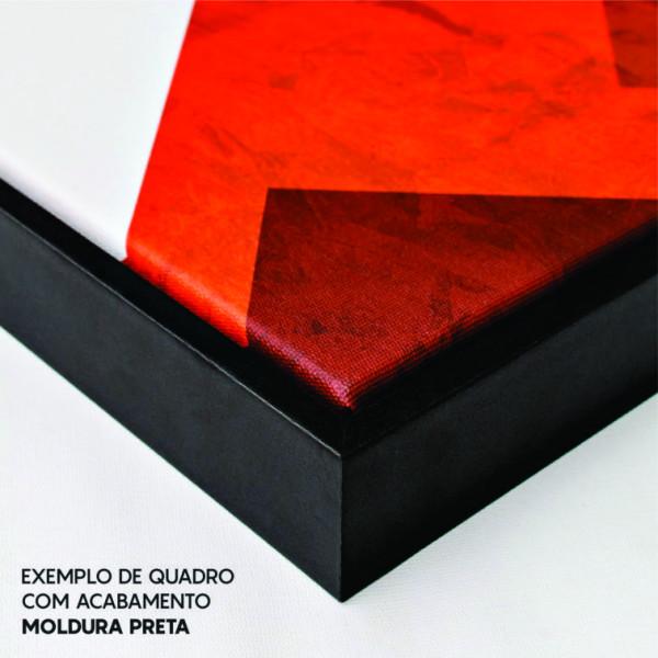 Quadro Abstrato Minimalista Rosa e Laranja - Tela Única