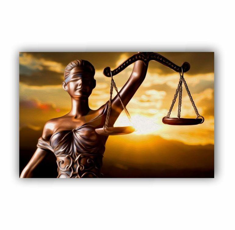 Quadro Advogado Direito Pôr do Sol Luxo - Tela Única