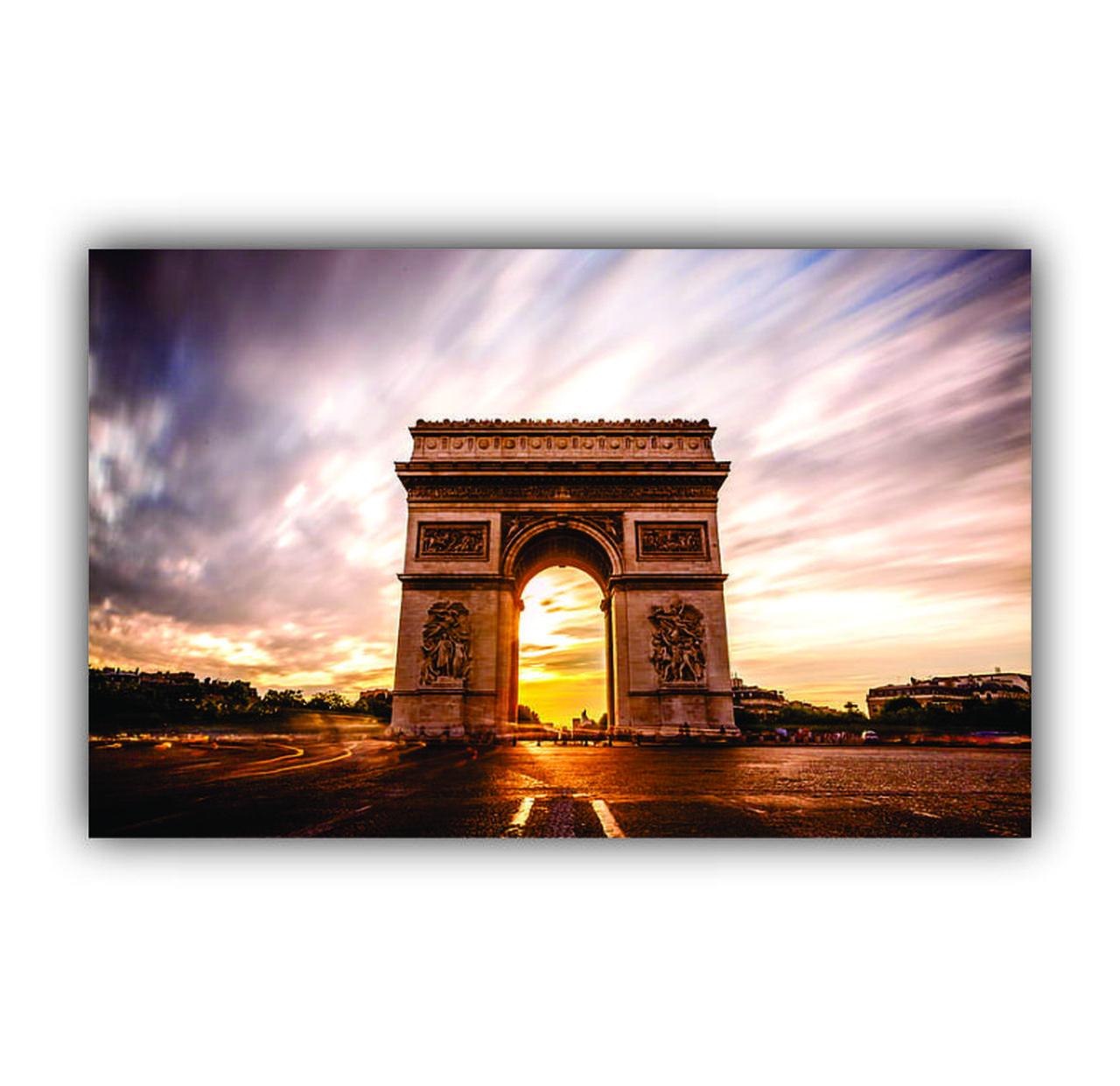 Quadro Arcos do Triunfo França - Tela Única