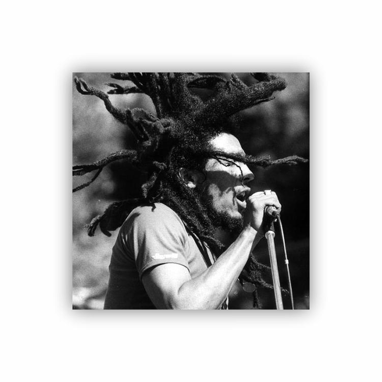 Quadro Bob Marley Reggae Power Quadrado - Tela Única