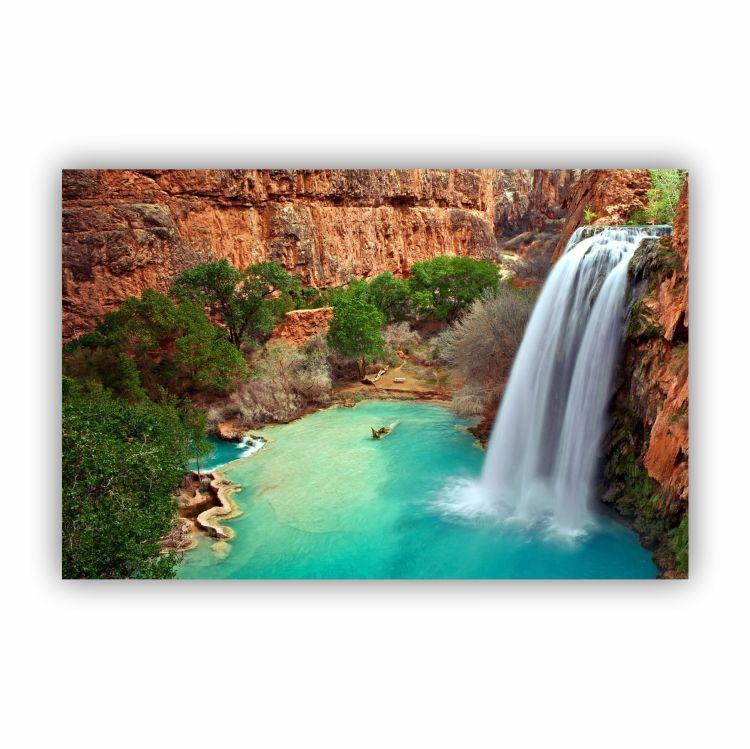 Quadro Cachoeira Rochosa Luxo - Tela Única