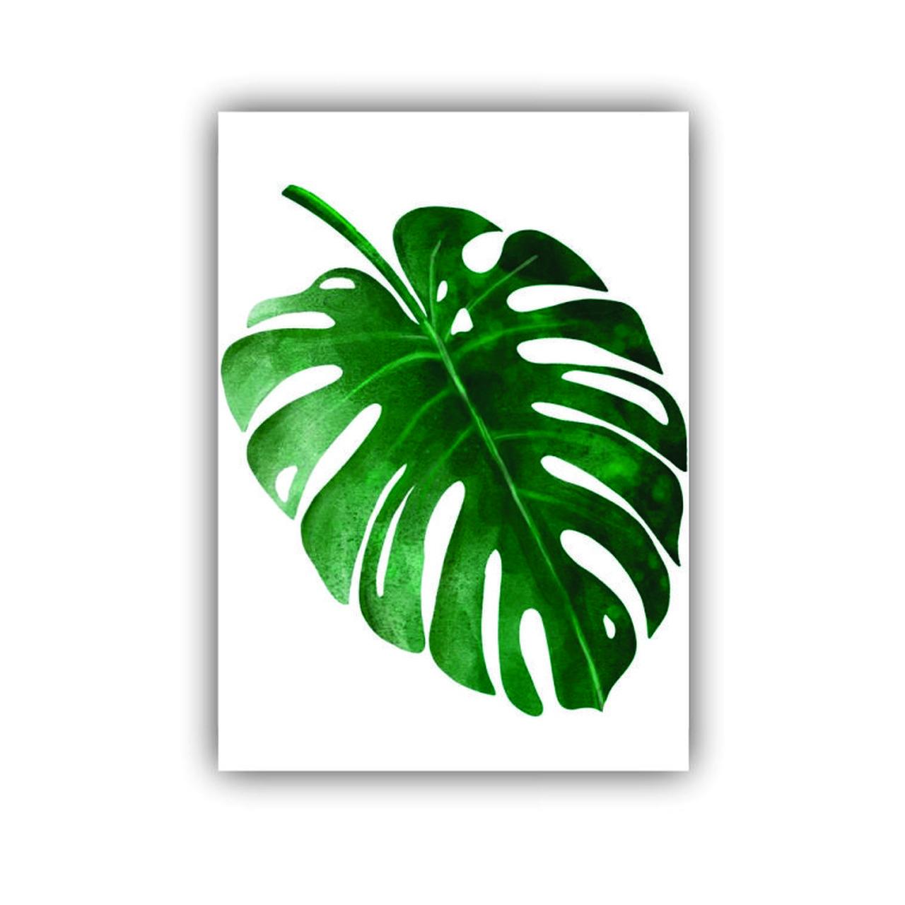 Quadro Costela de Adão Folha Natureza Verde - Tela Única