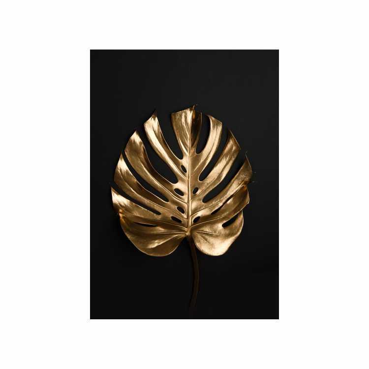 Quadro Costela de Adão Preto e Dourado 2 - Tela Única