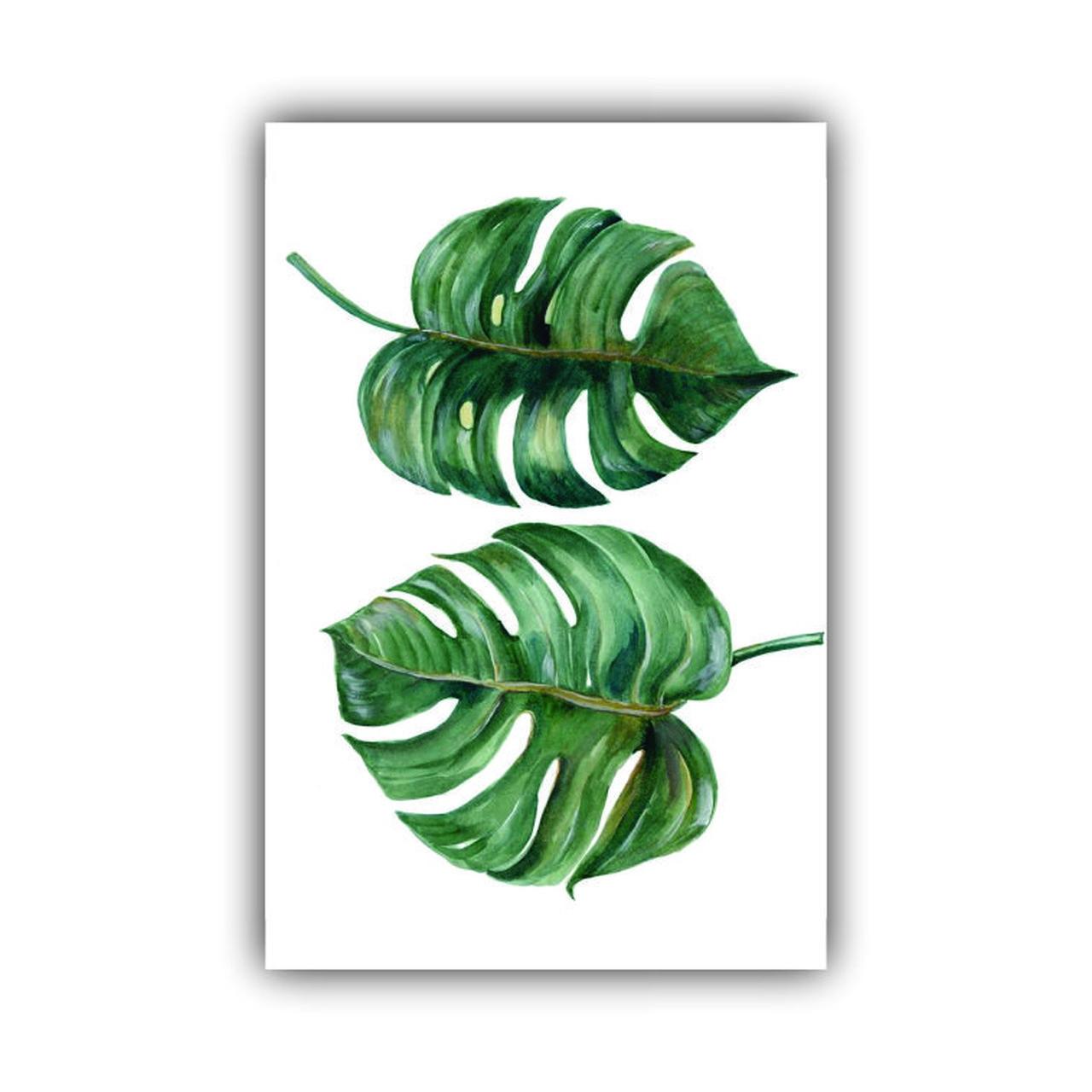 Quadro Decorativo Costela de Adão Green Impacto - Tela Única