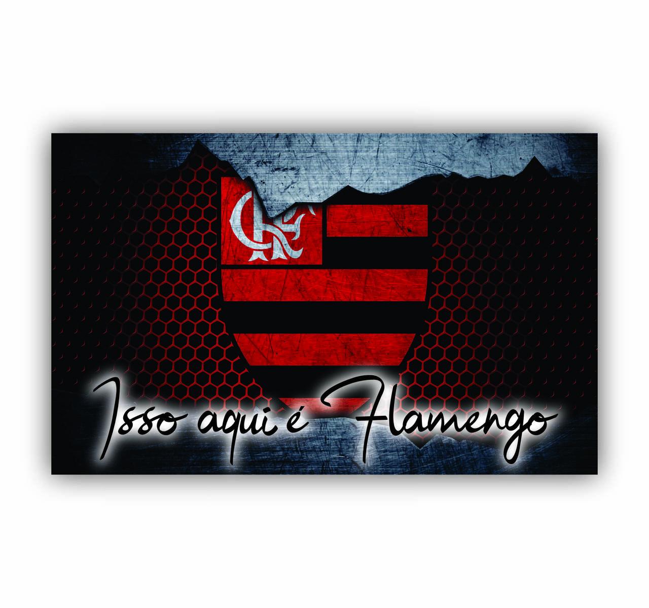 Quadro Decorativo Esportivo Flamengo - Tela Única