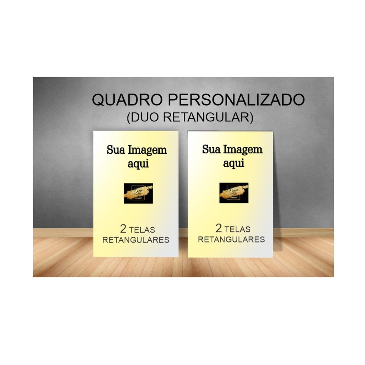 Quadro Duplo Personalizado -  Kit 2 telas