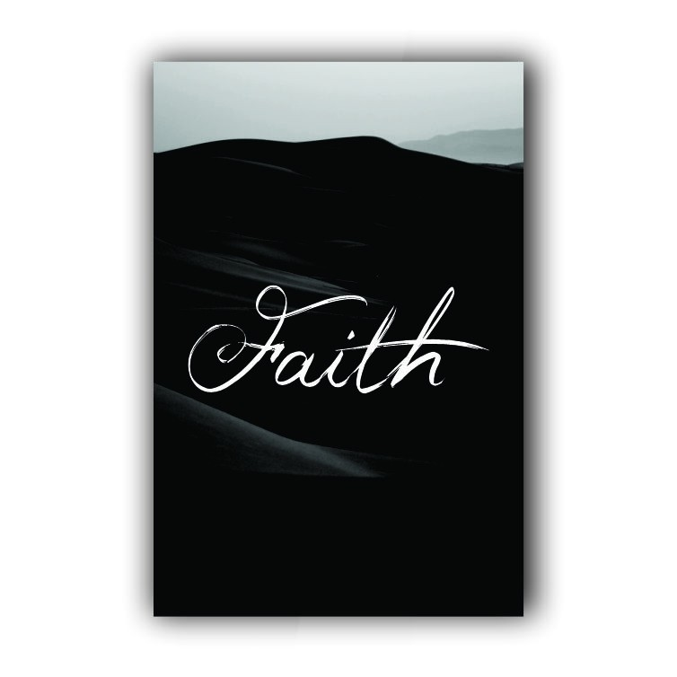 Quadro Faith - Tela Única
