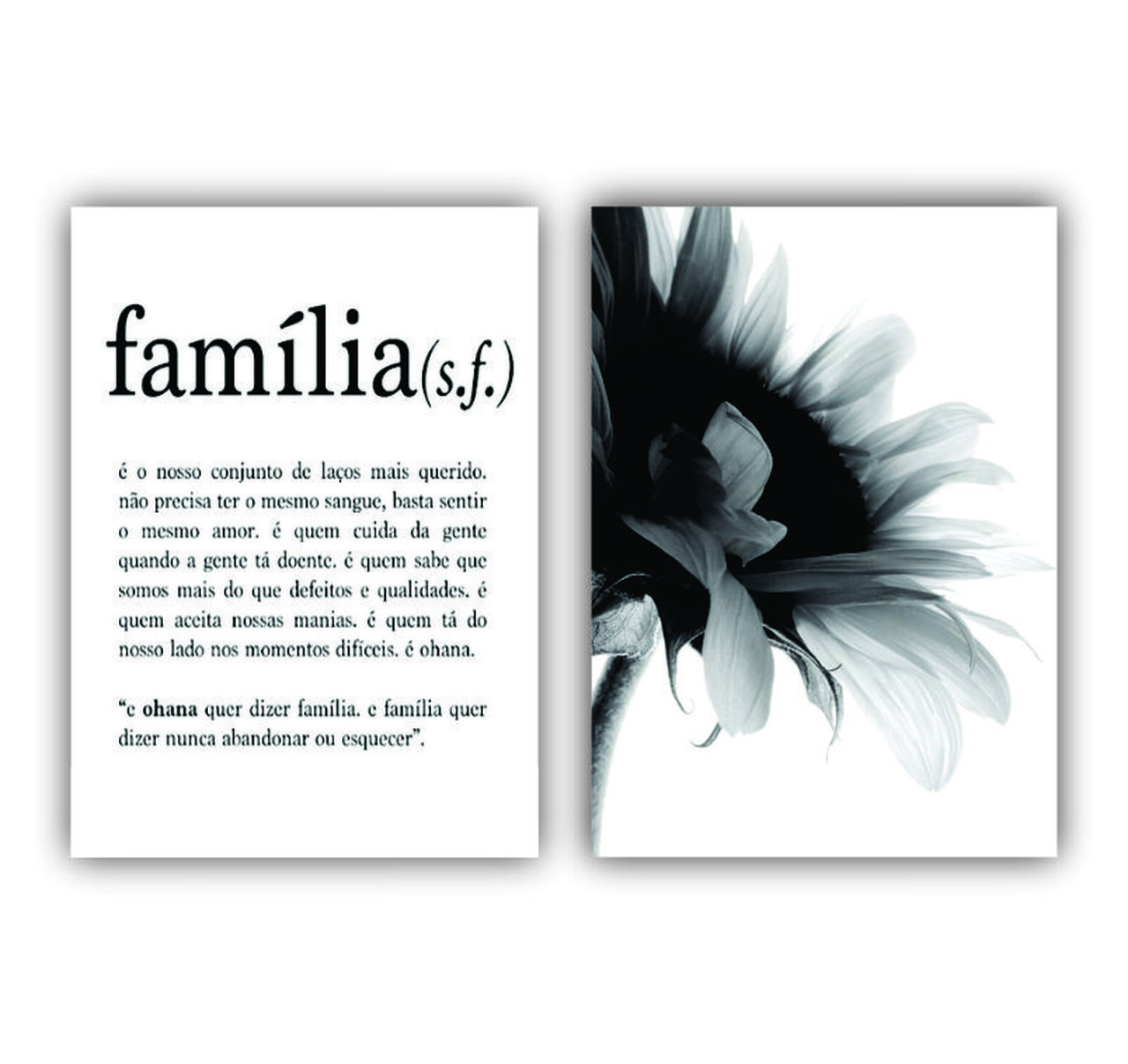 Quadro Família Girassol -  Kit 2 telas