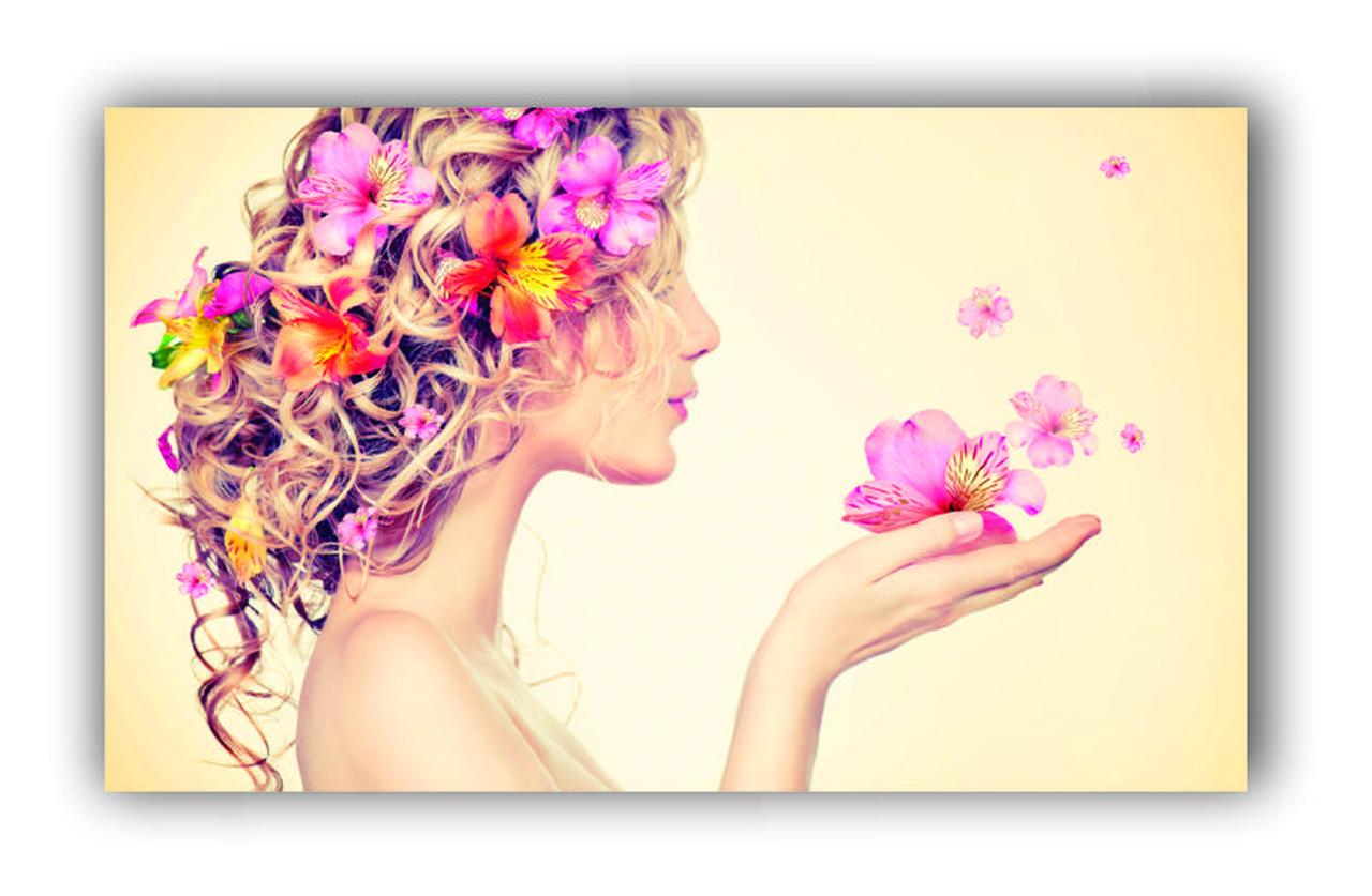 Quadro Feminino Borboletas Delicado Rosa - Tela Única