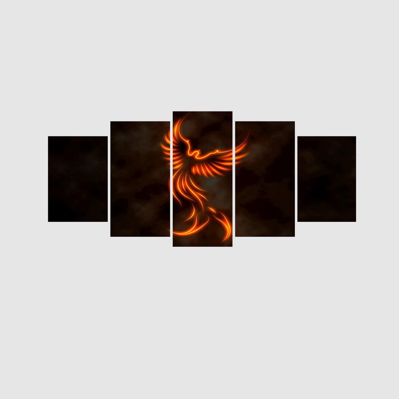Quadro Fênix o Renascimento - 5 Telas