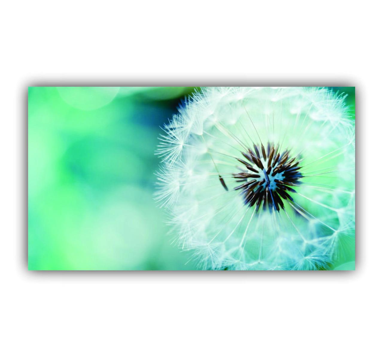 Quadro Flor Delicada Azul e Branco Clean - Tela Única