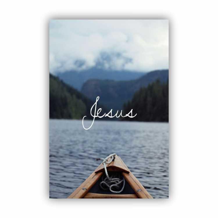 Quadro Jesus no Barco - Tela Única