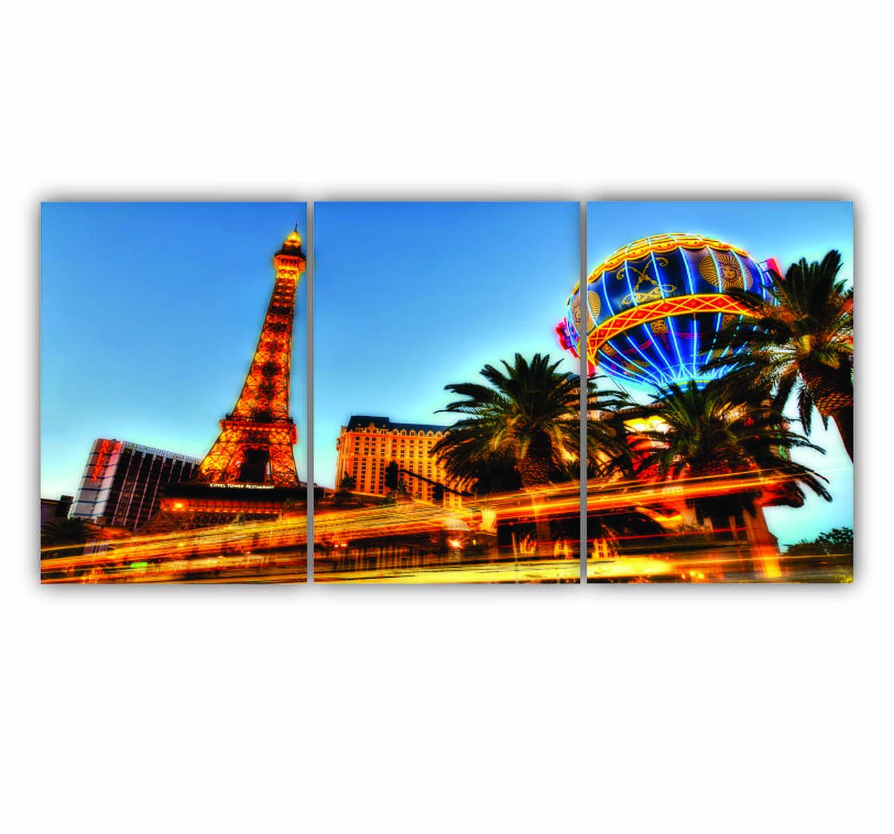 Quadro Las Vegas  - Kit 3 telas