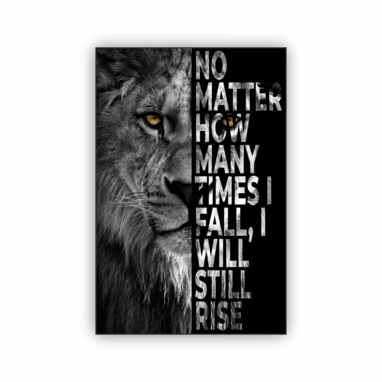 Quadro Leão Motivacional Frase 1- Tela Única