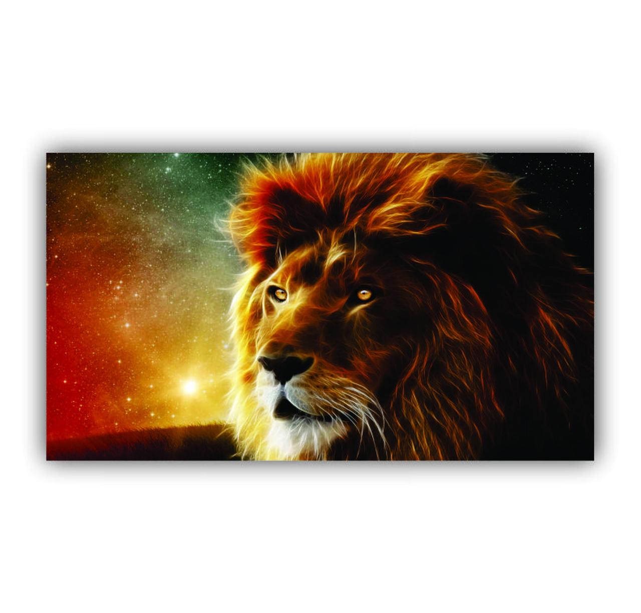 Quadro Leão Rei Céu - Tela Única