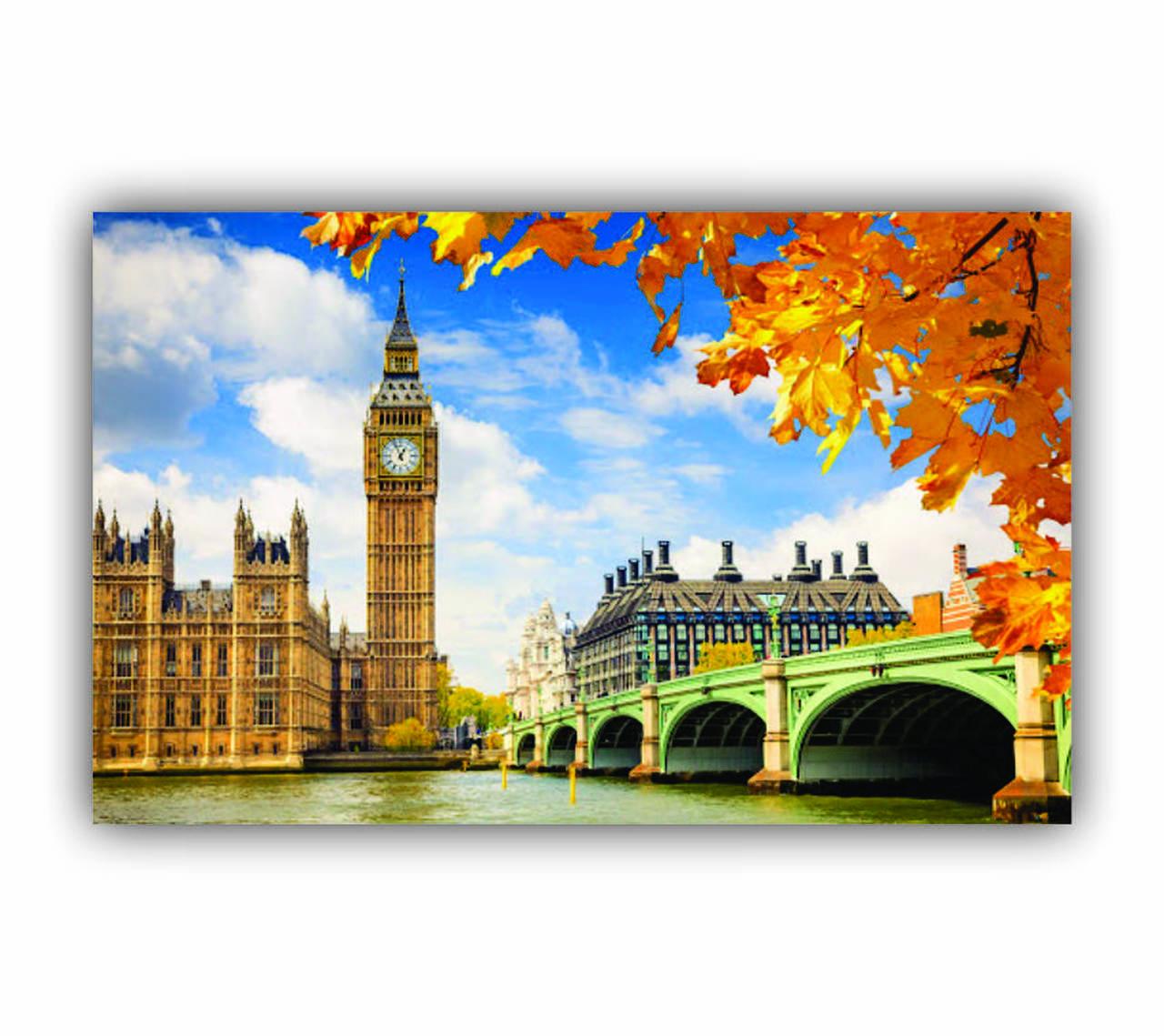 Quadro Londres Flores Amarelas - Tela Única