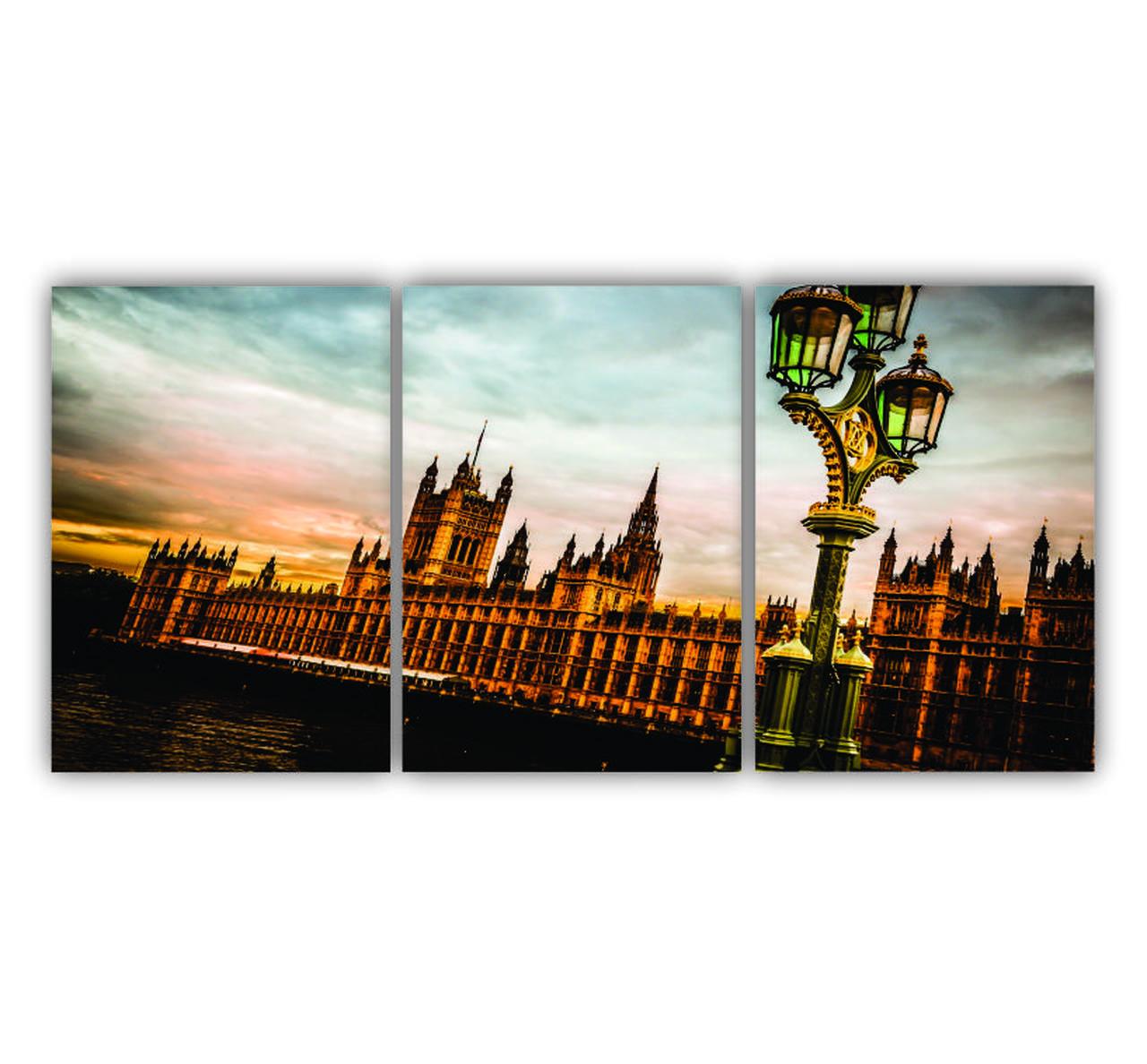Quadro Londres Ponto Turístico - Kit 3 telas