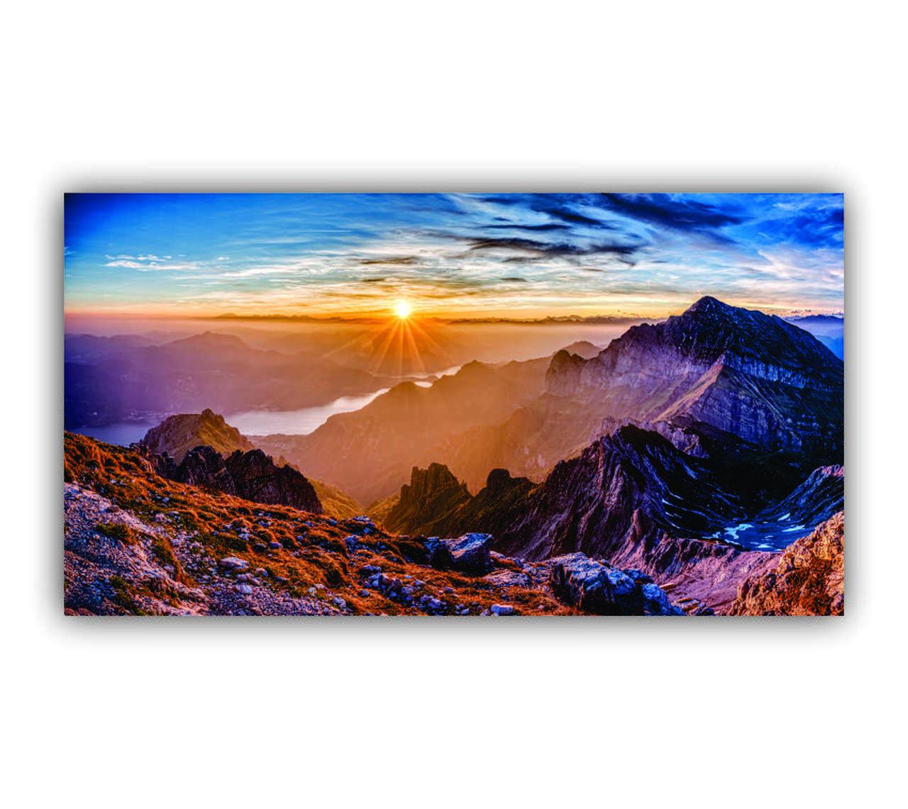 Quadro Montanhas Ensolaradas - Tela Única