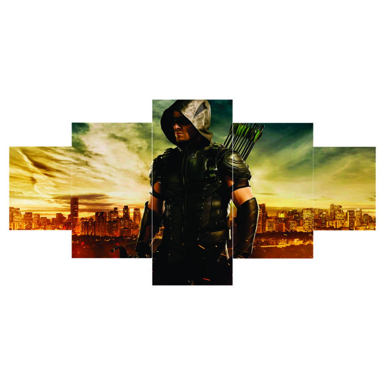 Quadro Mosaico Arrow - Arqueiro Verde