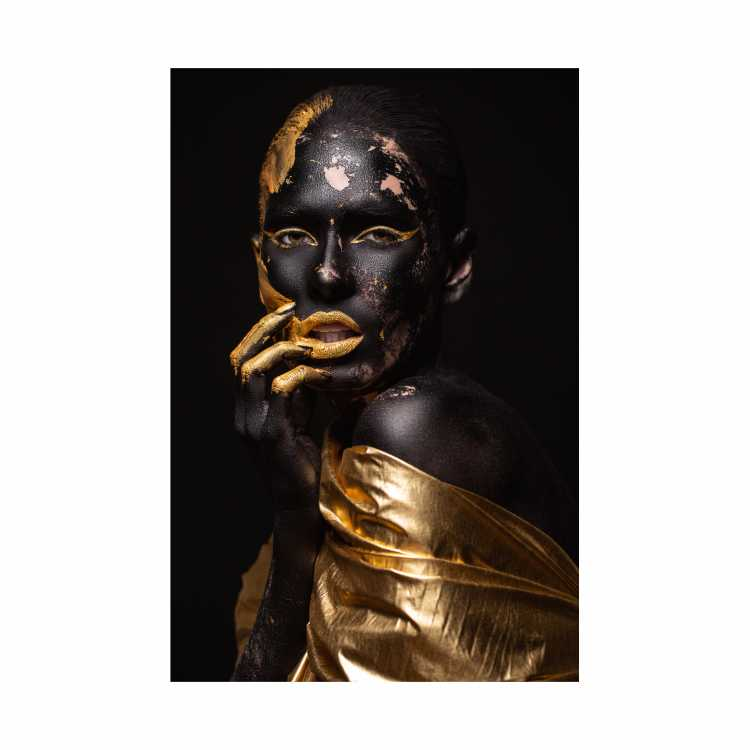 Quadro Mulher Sexy Black and Gold Preto e Dourado - Tela Única
