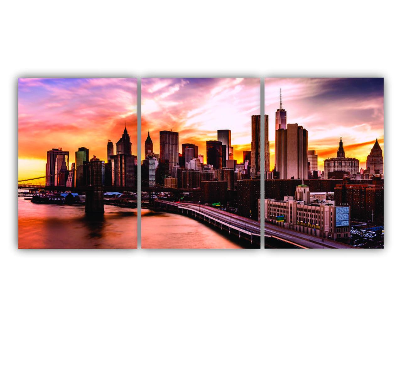 Quadro New York - Kit 3 telas