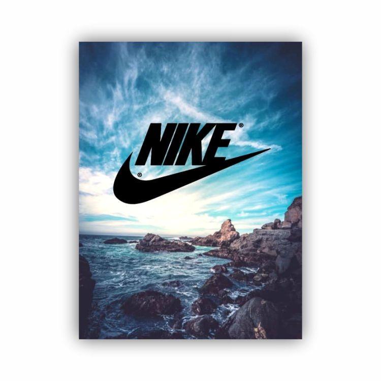 Quadro Nike Futebol Montanhas - Tela Única