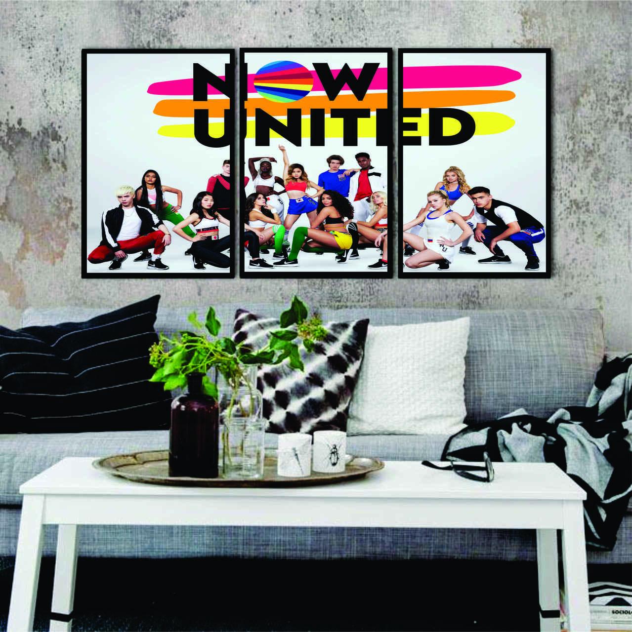 Quadro Now United Colorido - Kit 3 telas
