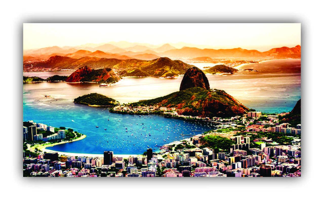 Quadro o Rio De Janeiro Continua Lindo - Tela Única