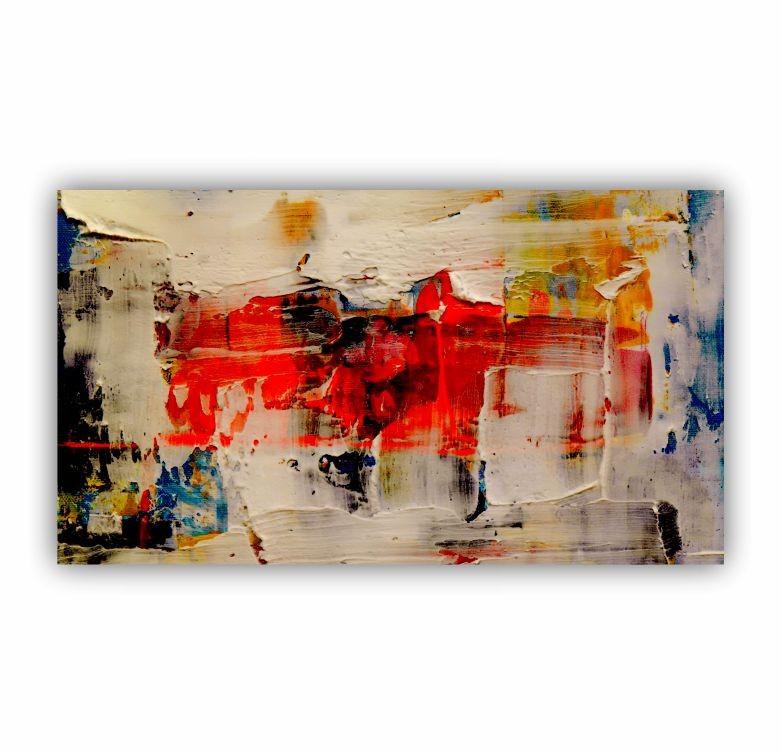 Quadro Pintura Abstrata Cores Vida - Tela Única