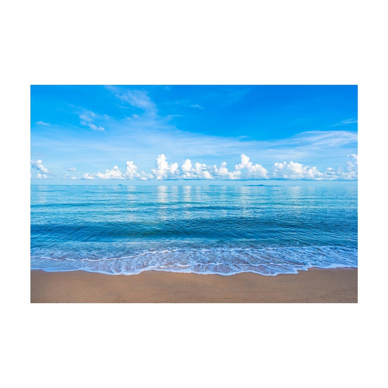 Quadro Praia Mar - Tela Única
