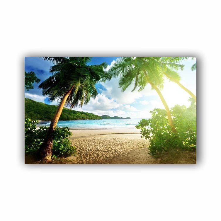 Quadro Praia Palmeiras - Tela Única