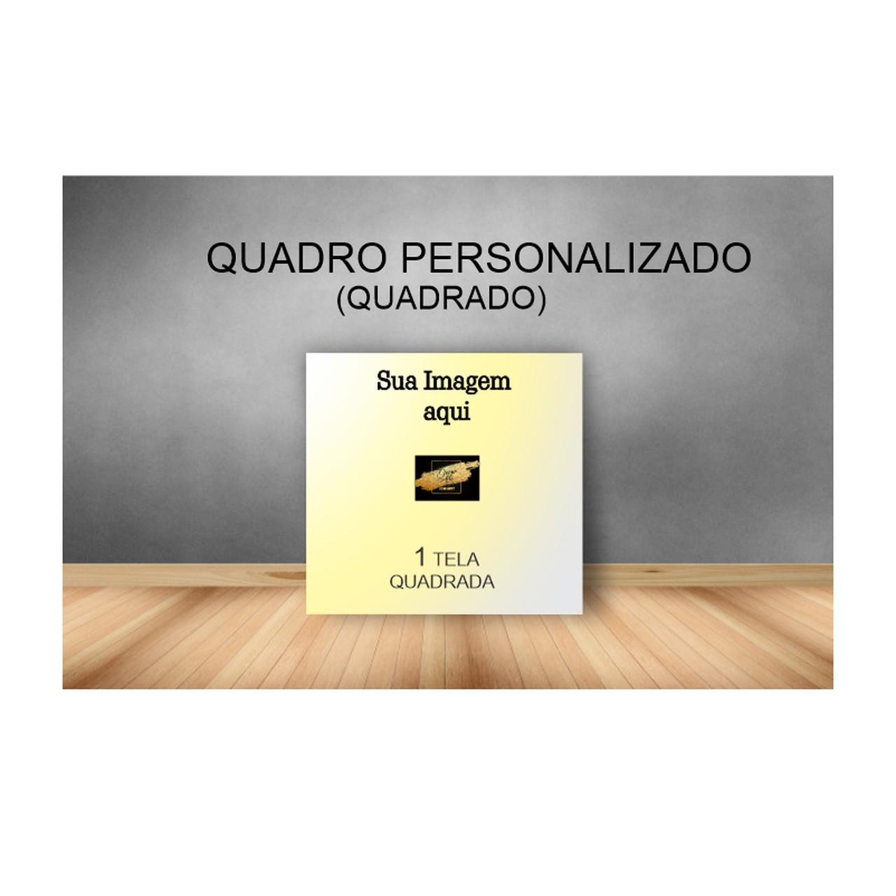Quadro Quadrado Personalizado - Tela Única