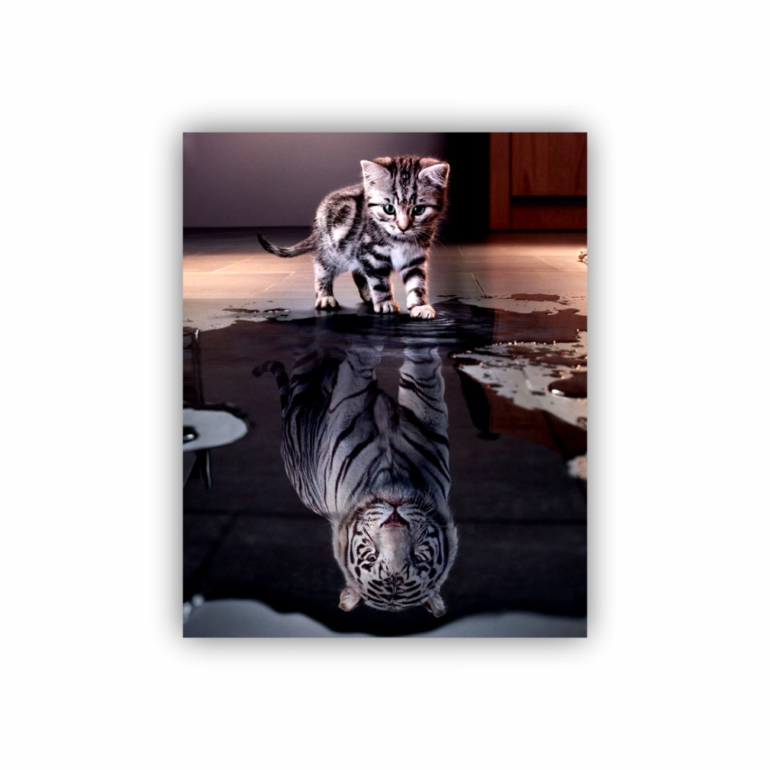 Quadro Tigre Mindset - Tela Única