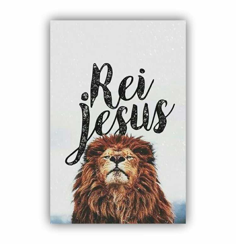 Quadro Rei Jesus Leão - Tela Única