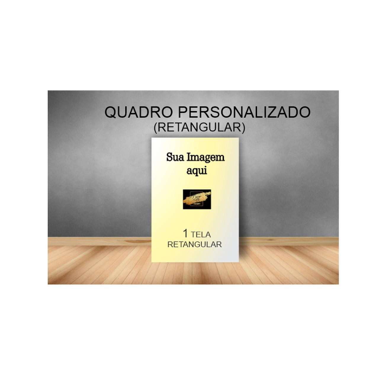 Quadro Retangular Personalizado - Tela Única