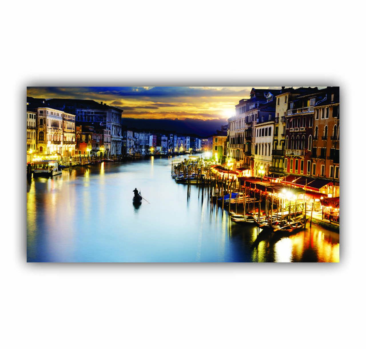 Quadro Rio em Veneza - Tela Única