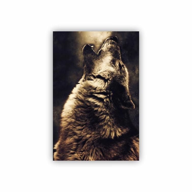 Quadro Urso Sépia - Tela Única