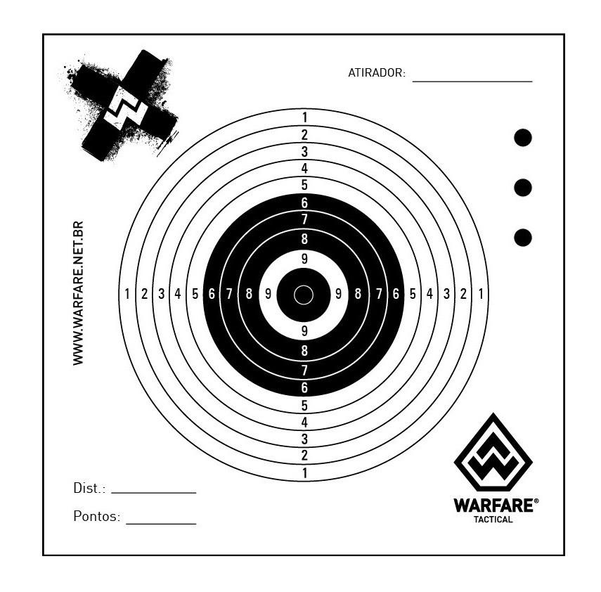 Alvo para Carabina - Pct c/ 10  - Warfare