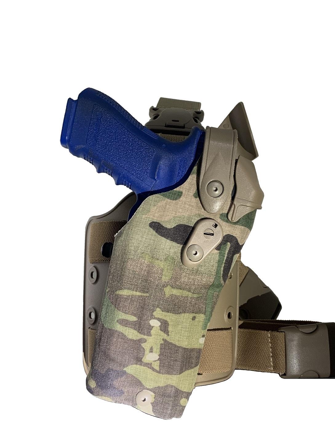 Coldre 6305RDS Multicam c/ Lanterna - Glock 17/22 - Safariland