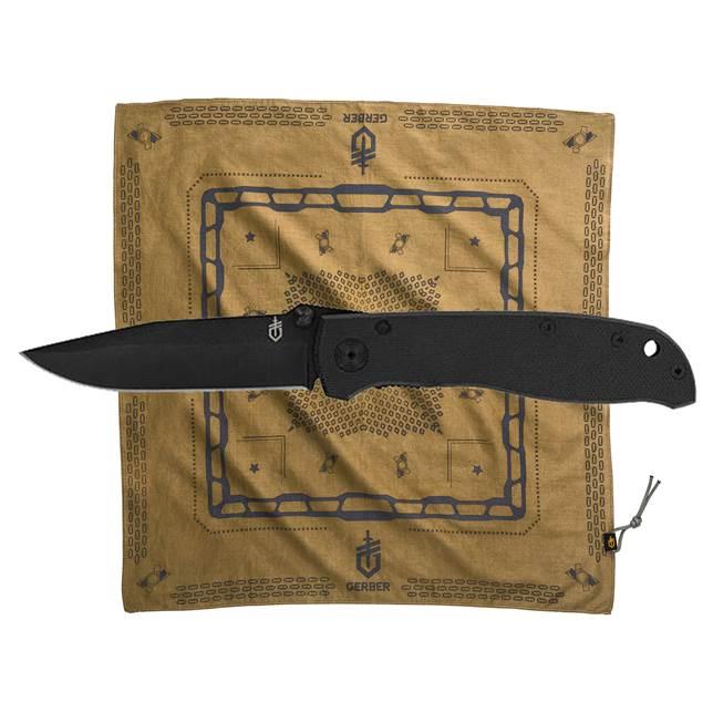 Kit Canivete Air Ranger G10 + Bandana Coyote - GERBER