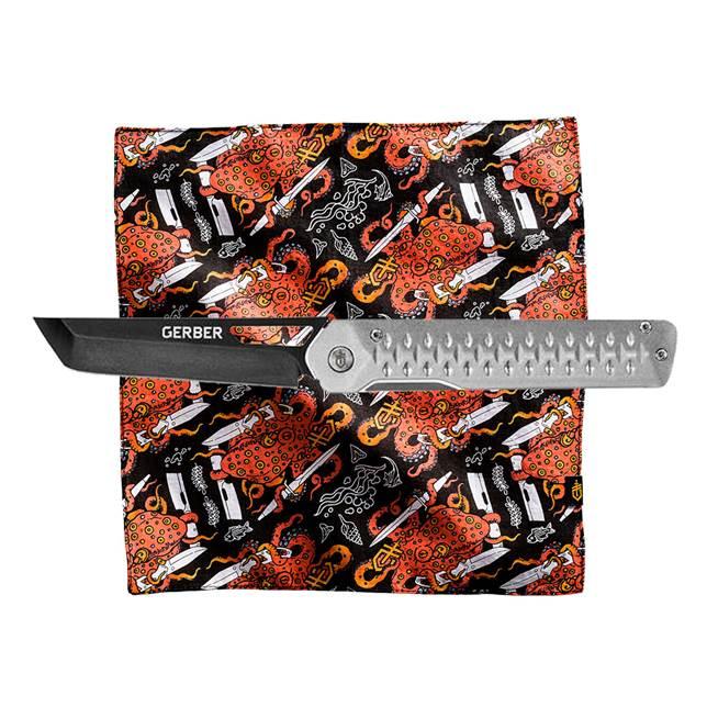 Kit Canivete Ayako Guide + Lenço Octo Hank - Gerber