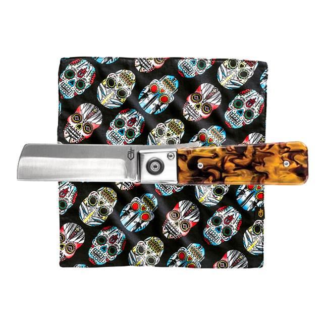 Kit Canivete Jukebox Tortoise Shell + Lenço Sugar Skull - Gerber