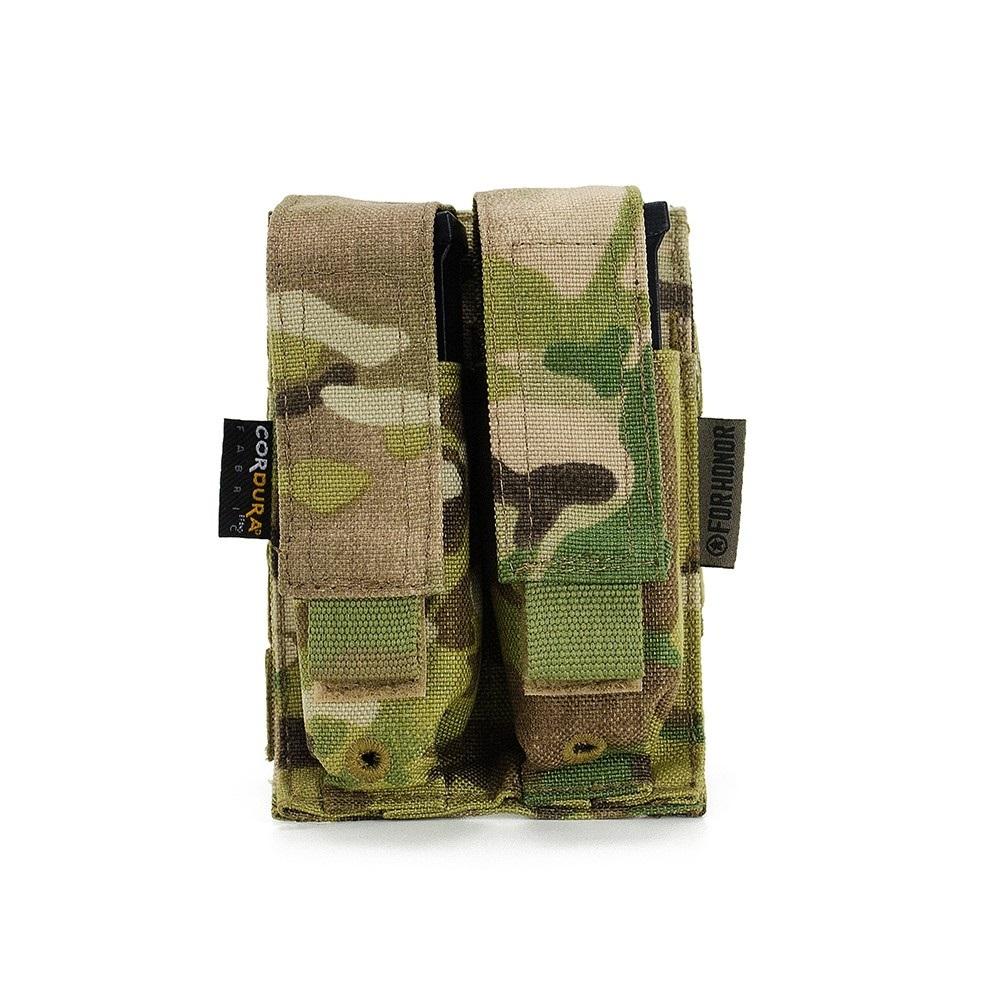 Porta Carregador Pistola Duplo Multicam - For Honor