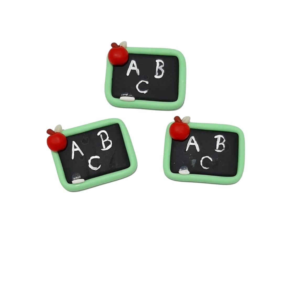 APLIQUES QUADRO BISCUIT  3,0cm - 3 Unid.