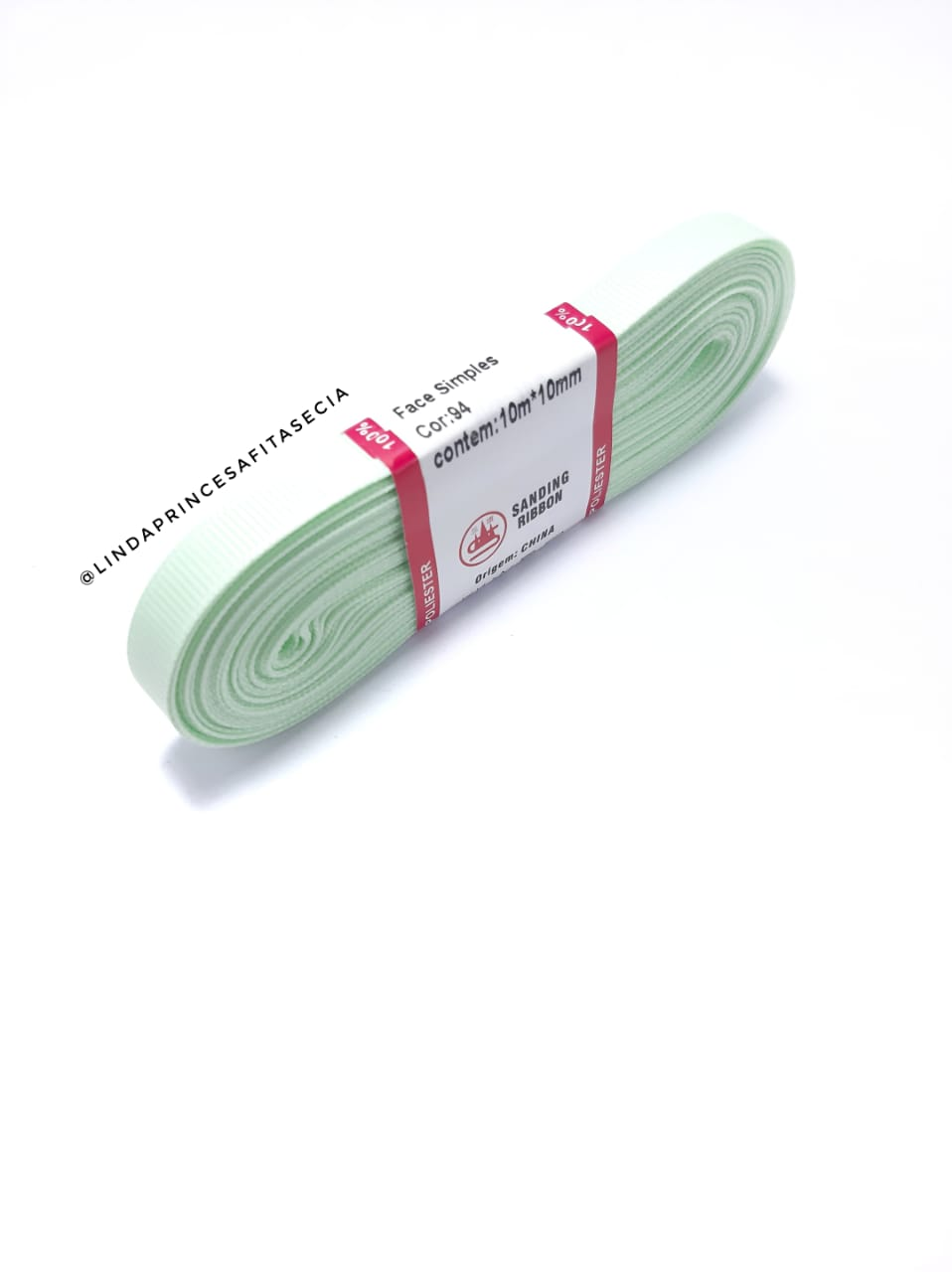 FITA SANDING 10 mm - Cor: 094 Verde Bebê.