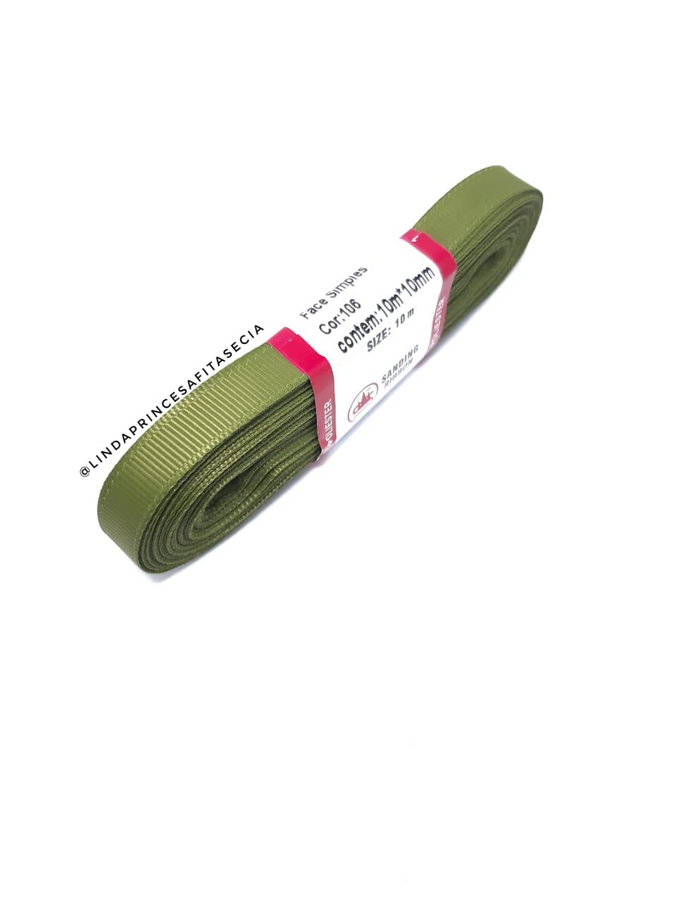FITA SANDING 10 mm  - Cor: 106 Verde Oliva.