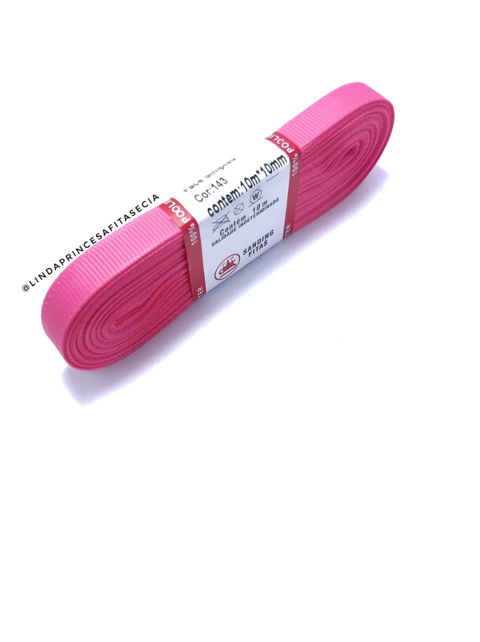FITA SANDING 10 mm - Cor: 143 Rosa Escuro.