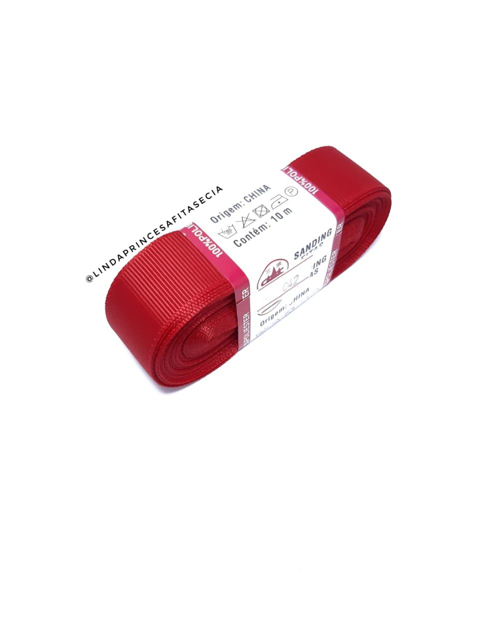 FITA SANDING 22 mm - Cor: 042 Vermelho Rubi.