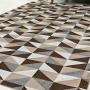 Tapete Jacquard Dallas Roma Cores Antiderrapante Geométrico 132x250 CM